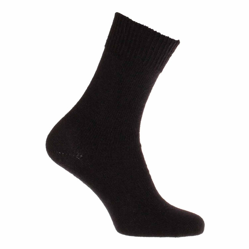 Everyday Alpaca Socks Black UK 4 - 7 Shoe CLOTHING The Wool Company