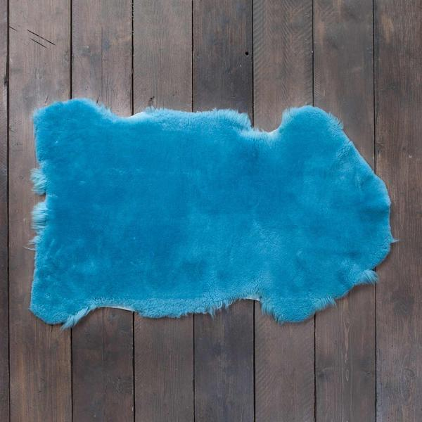Exclusive Sheepskin Throws Cerulean -  - SHEEPSKIN  from The Wool Company