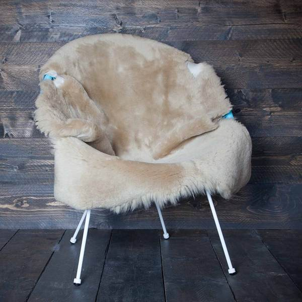 Exclusive Sheepskin Throws Cornsilk -  - SHEEPSKIN  from The Wool Company