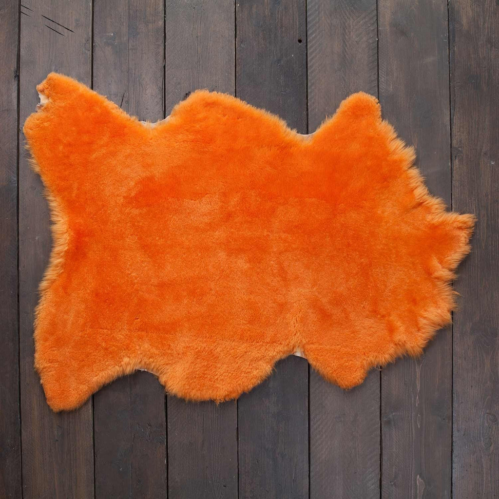 Exclusive Sheepskin Throws Mandarin -  - SHEEPSKIN  from The Wool Company