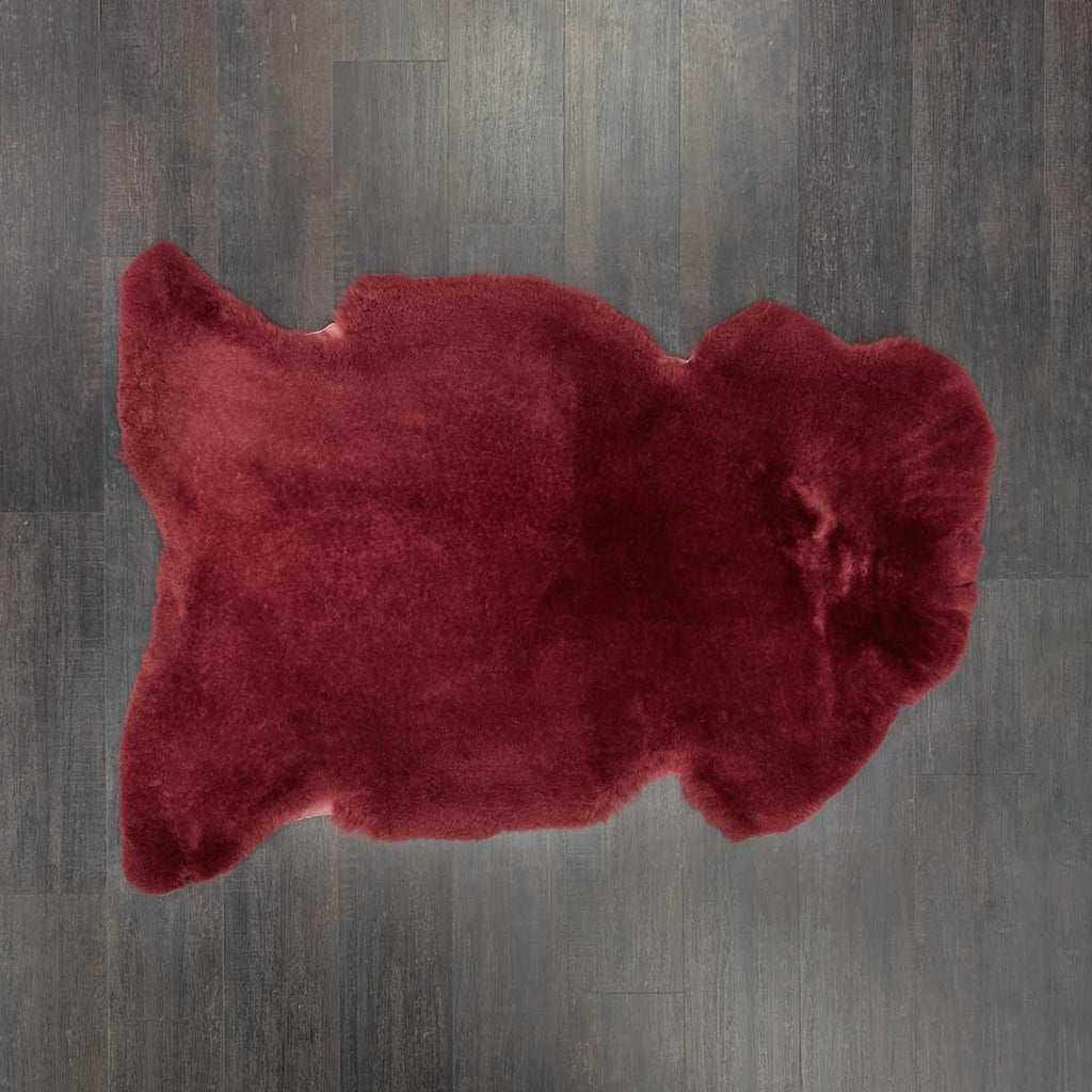 Exclusive Sheepskin Throws Maroon -  - SHEEPSKIN  from The Wool Company