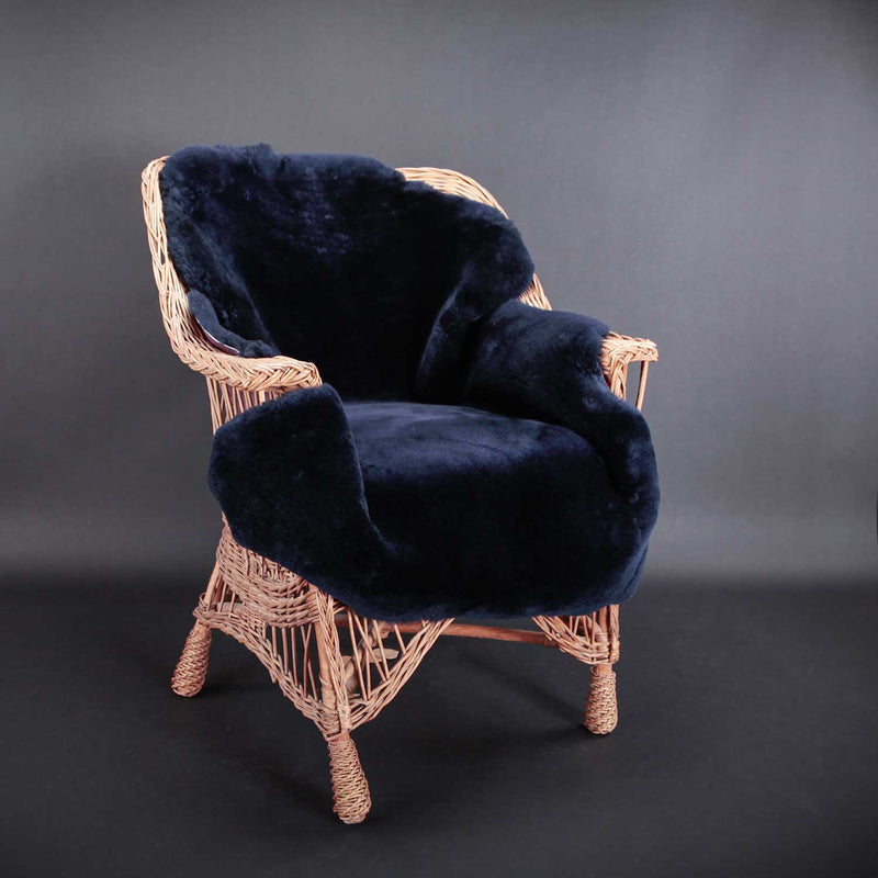 Exclusive Sheepskin Throws Midnight Blue -  - SHEEPSKIN  from The Wool Company