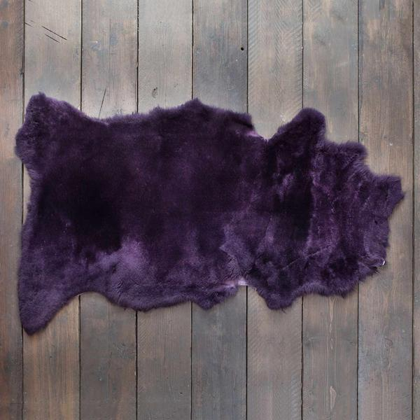 Exclusive Sheepskin Throws Royal Purple SHEEPSKIN The Wool Company