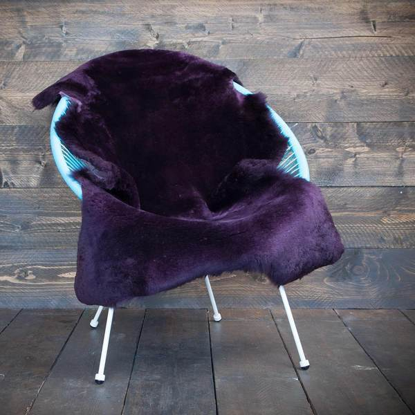 Exclusive Sheepskin Throws Royal Purple -  - SHEEPSKIN  from The Wool Company