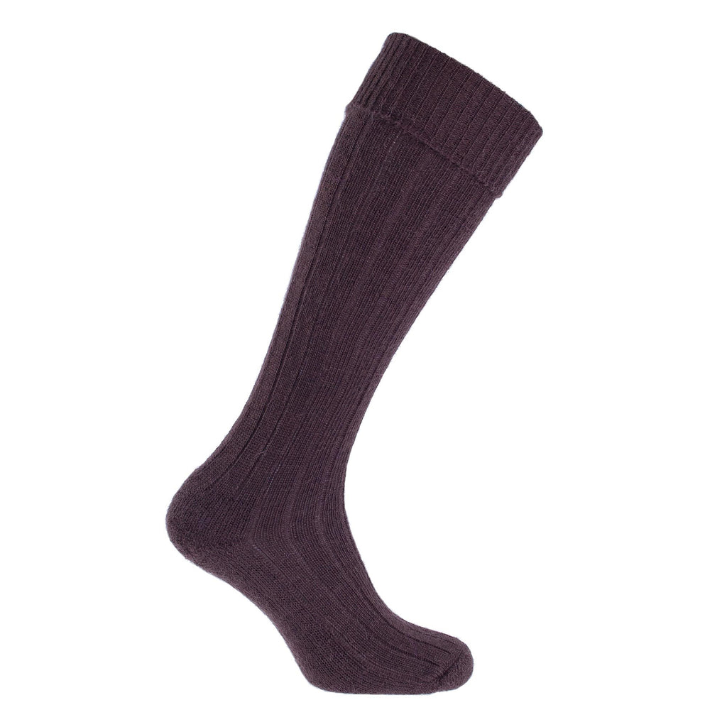 Exmoor Mohair Shooting Sock 4 - 7 Bark CLOTHING The Wool Company