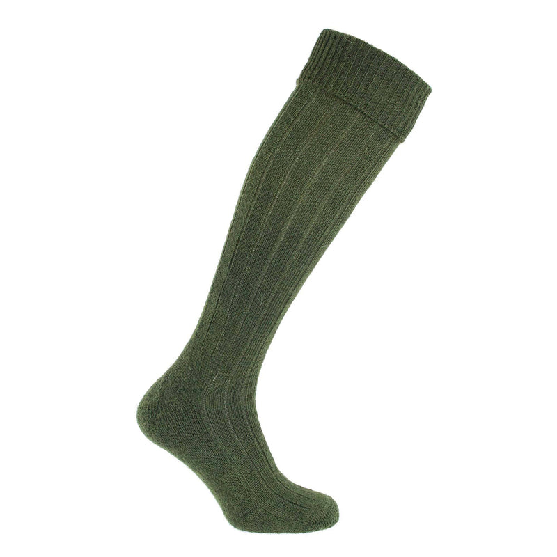 Exmoor Mohair Shooting Sock - 4 - 7 / Loden - CLOTHING  from The Wool Company