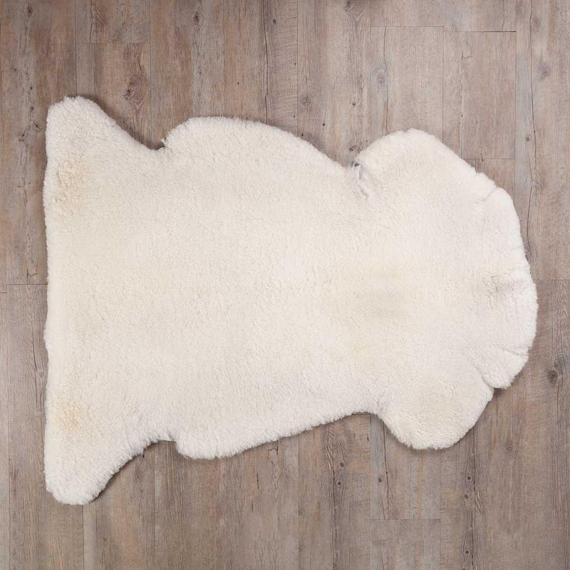 Extra Large Merino Sheepskin Throws Natural White -  - SHEEPSKIN  from The Wool Company