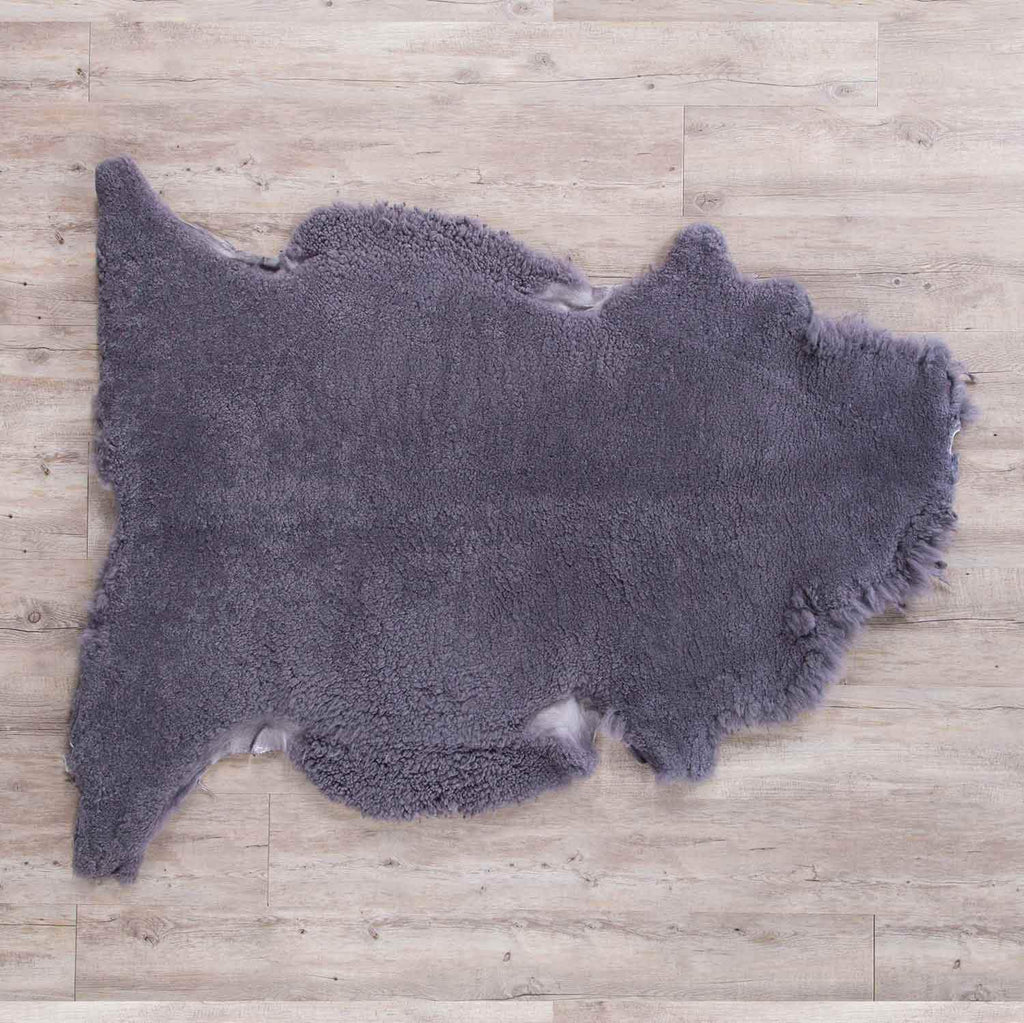 Extra Large Merino Sheepskin Throws Slate SHEEPSKIN The Wool Company