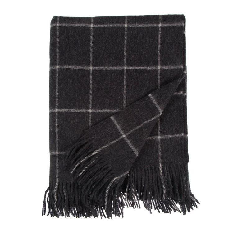 Extra Large Merino Throw Charcoal LIVING The Wool Company