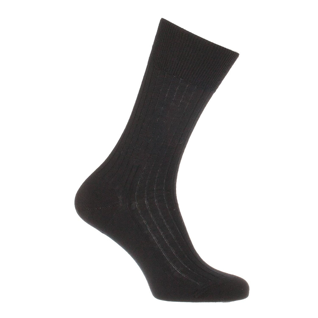 Finest Merino Everyday Wool Sock - Black / UK 7 - 8 Shoe - CLOTHING  from The Wool Company