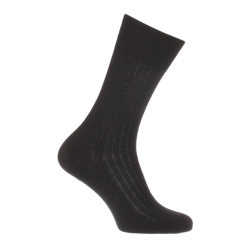 Finest Merino Everyday Wool Sock Black UK 7 - 8 Shoe CLOTHING The Wool Company