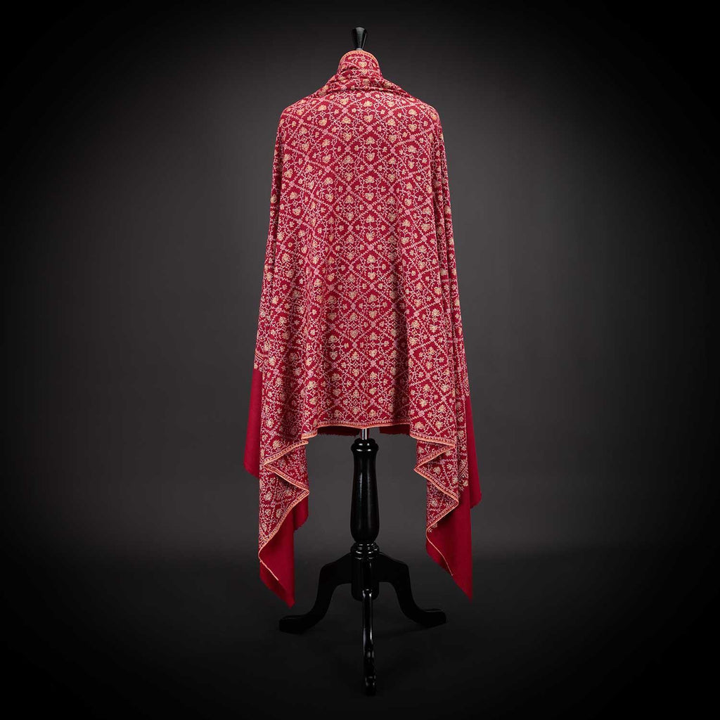 Ganderbal Hand Embroidered Pashmina Kashmiri Vine -  - CLOTHING  from The Wool Company
