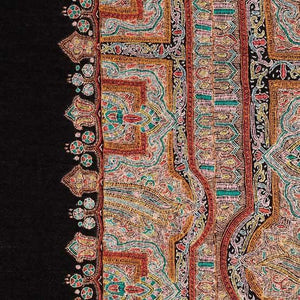 Ganderbal Hand Embroidered Pashmina Mandala -  - CLOTHING  from The Wool Company