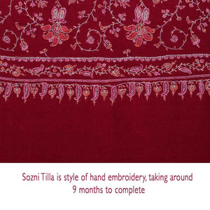 Ganderbal Hand Embroidered Pashmina Sozni Tilla -  - CLOTHING  from The Wool Company