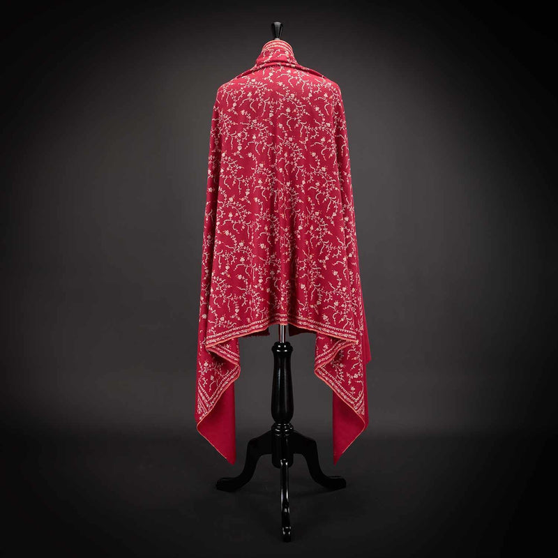 Ganderbal Hand Embroidered Pashmina Sunset -  - CLOTHING  from The Wool Company