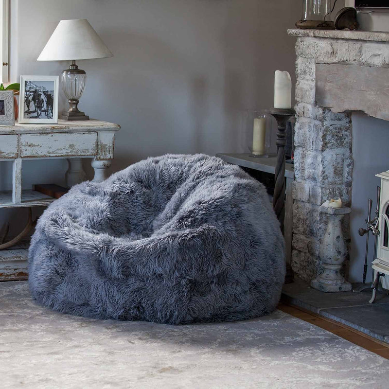 Buy Giant Yeti Sheepskin Bean Bag Pewter From The Wool Company Online
