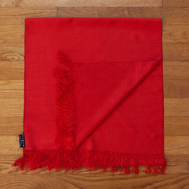 Hand Crafted 100% Silk Scarf in Autumn Red -  - OFFERS and SALE  from The Wool Company