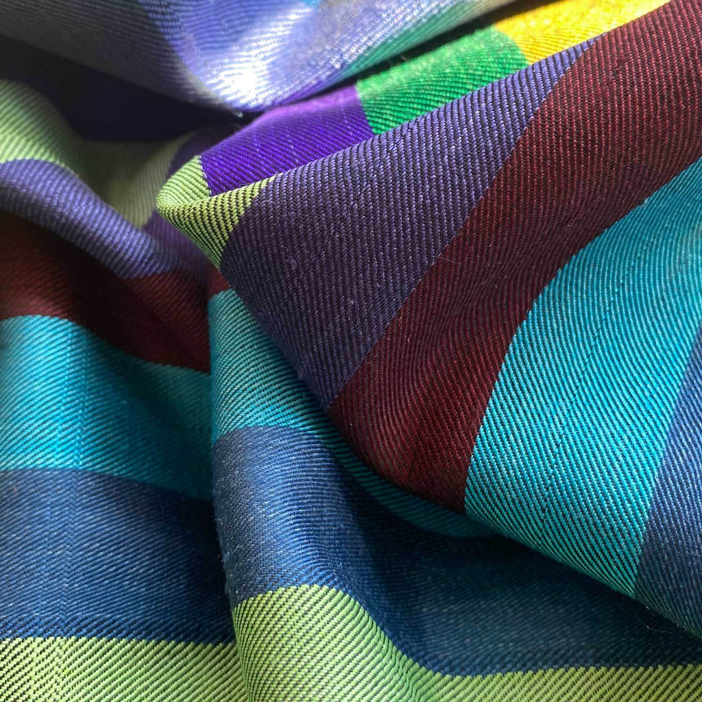 Buy Hand Crafted 100% Silk Scarf in Black Stripe From The Wool Company Online