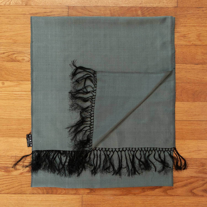 Hand Crafted 100% Silk Scarf in Green Slate -  - OFFERS and SALE  from The Wool Company