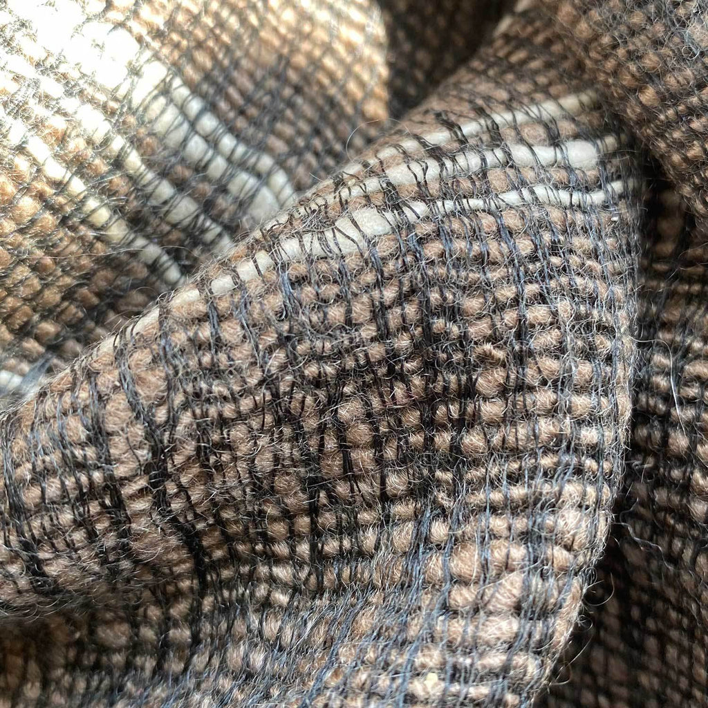 Hand Crafted Cashmere & Silk Scarf in Arzu Brown -  - OFFERS and SALE  from The Wool Company