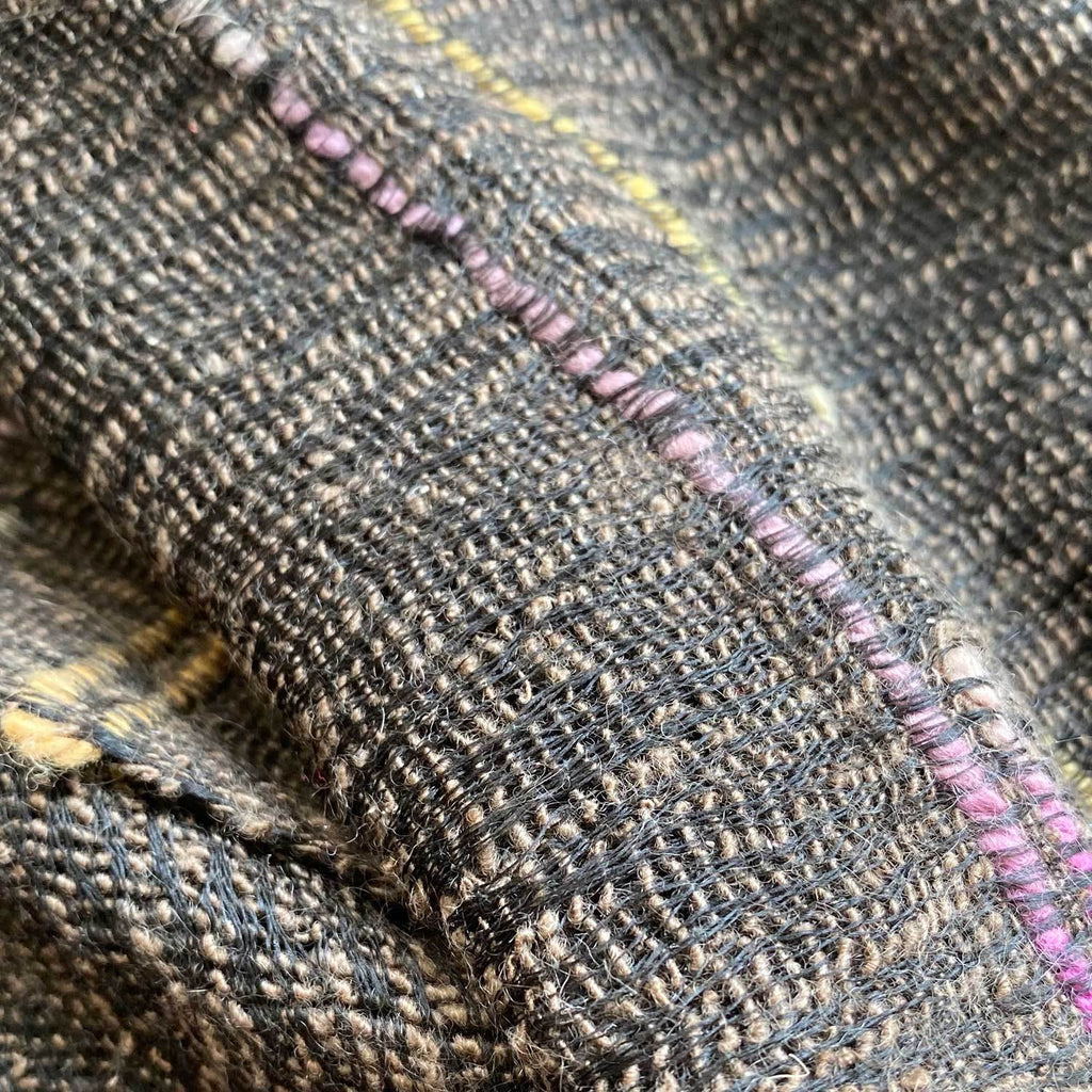 Hand Crafted Cashmere & Silk Scarf in Striped Brown -  - OFFERS and SALE  from The Wool Company
