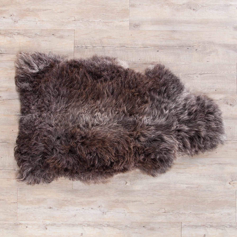 Herdwick Sheepskin Rugs Dark Grey SHEEPSKIN The Wool Company