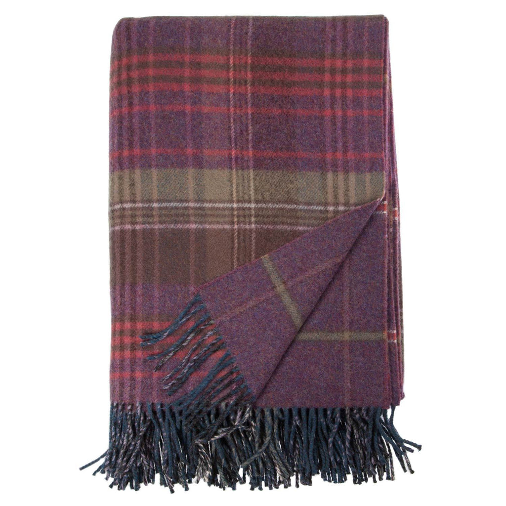 Heritage Double Faced Throw Heather LIVING The Wool Company