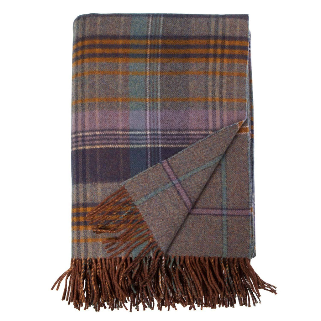 Heritage Double Faced Throw Lovat LIVING The Wool Company