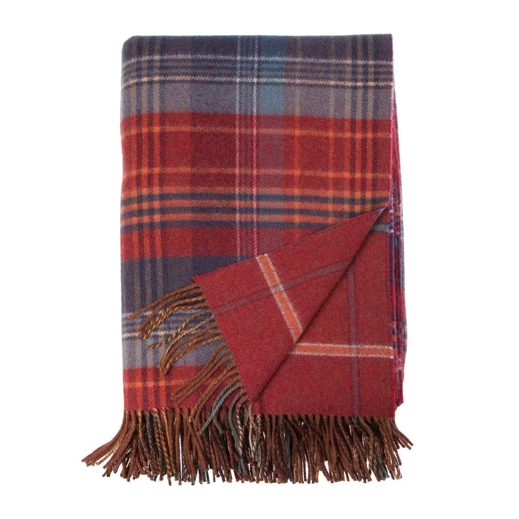 Heritage Double Faced Throw Russet Default Title LIVING The Wool Company