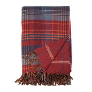 Heritage Double Faced Throw Russet - Default Title - LIVING  from The Wool Company
