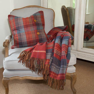 Heritage Double Faced Throw Russet -  - LIVING  from The Wool Company