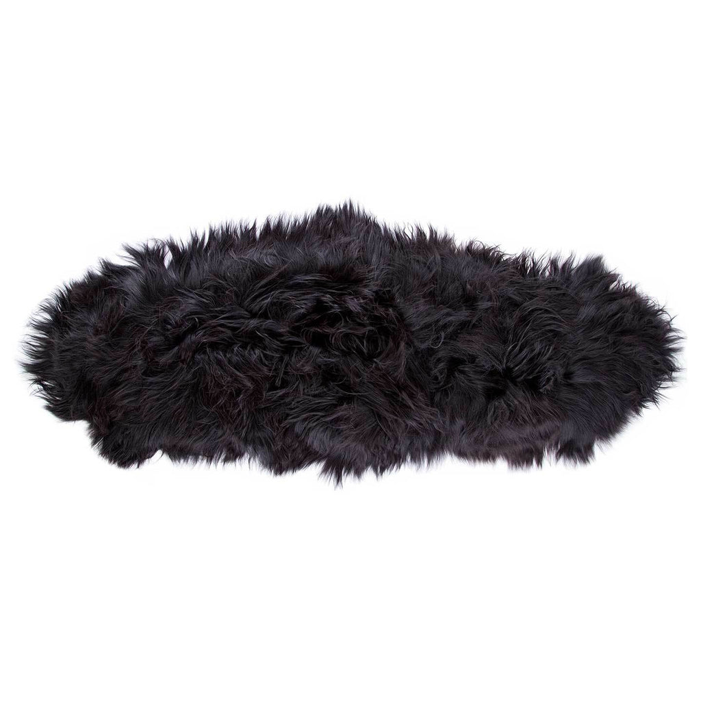 Buy Icelandic Double Sheepskin Natural Black From The Wool Company Online