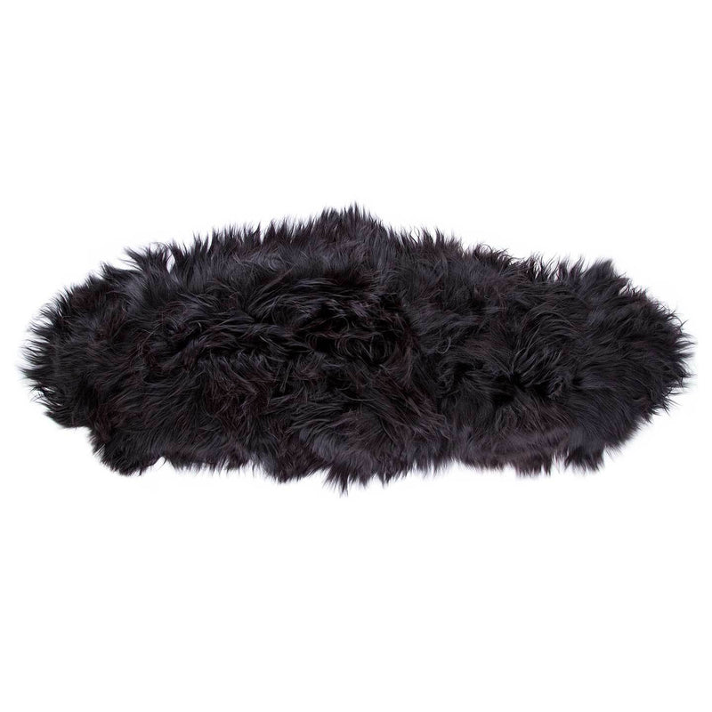 Icelandic Double Sheepskin Natural Black SHEEPSKIN The Wool Company
