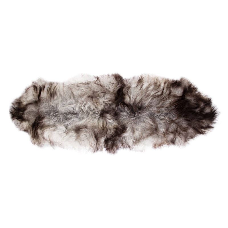 Icelandic Double Sheepskin Natural Marbled Grey SHEEPSKIN The Wool Company