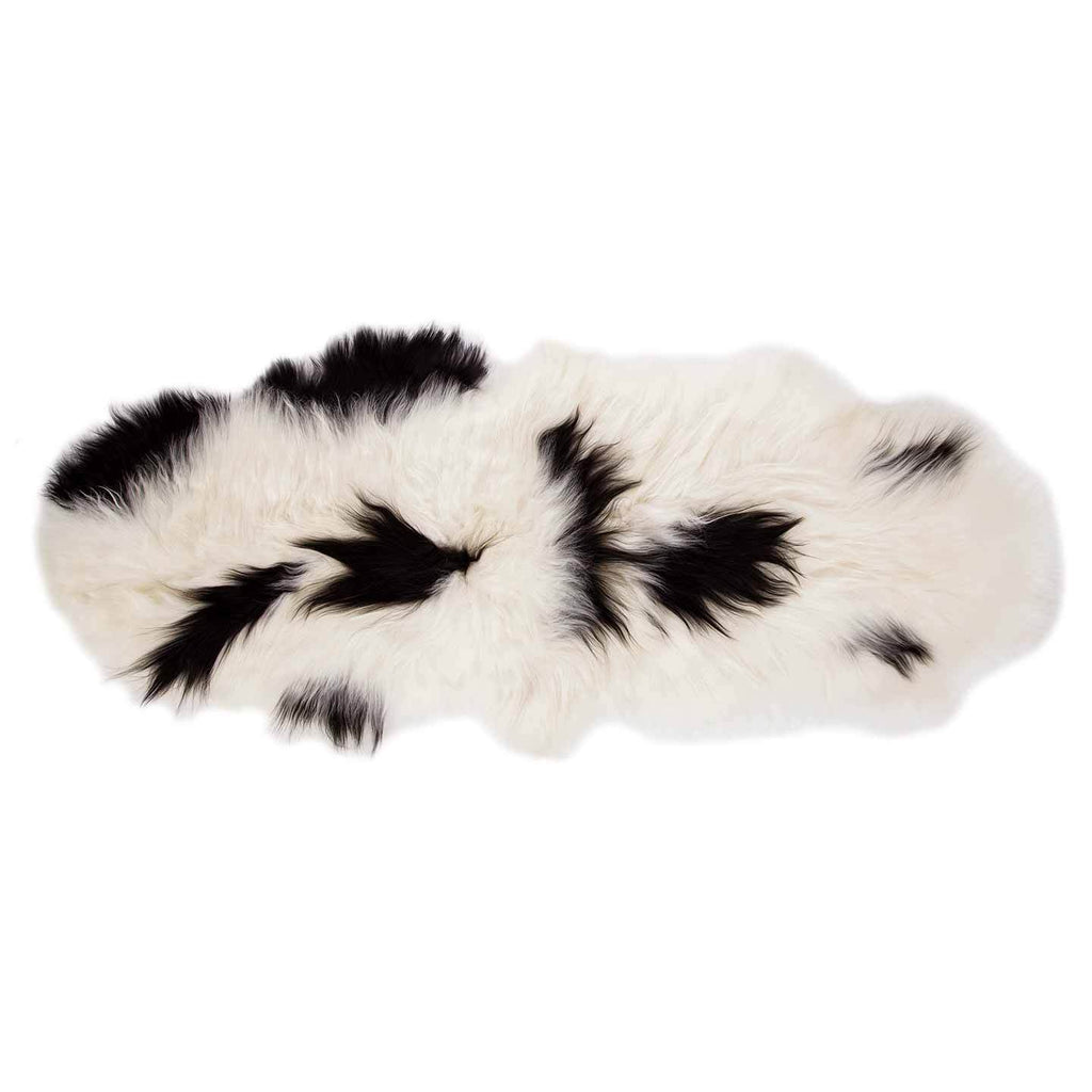 Buy Icelandic Double Sheepskin Natural White and Black From The Wool Company Online