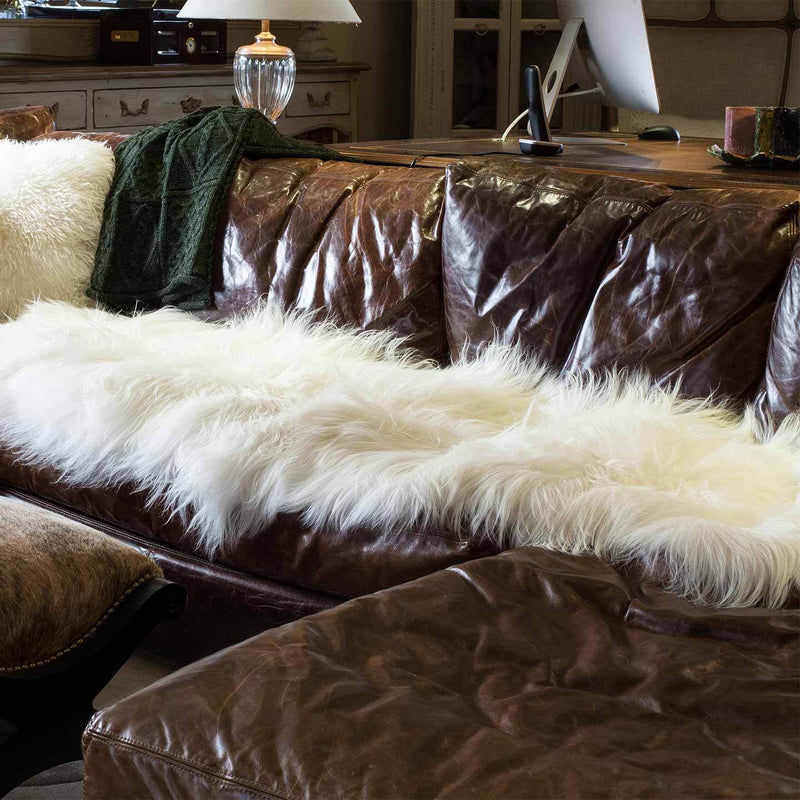 Icelandic Double Sheepskin Natural White -  - SHEEPSKIN  from The Wool Company