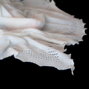 Buy Ivory Cashmere Baby Shawl From The Wool Company Online