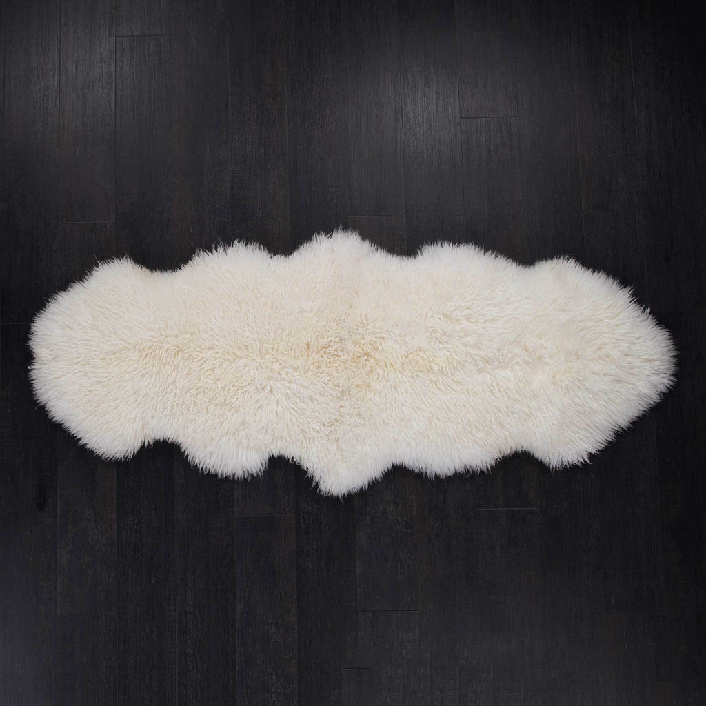 Buy Ivory Yeti Double Sheepskin Throw From The Wool Company Online