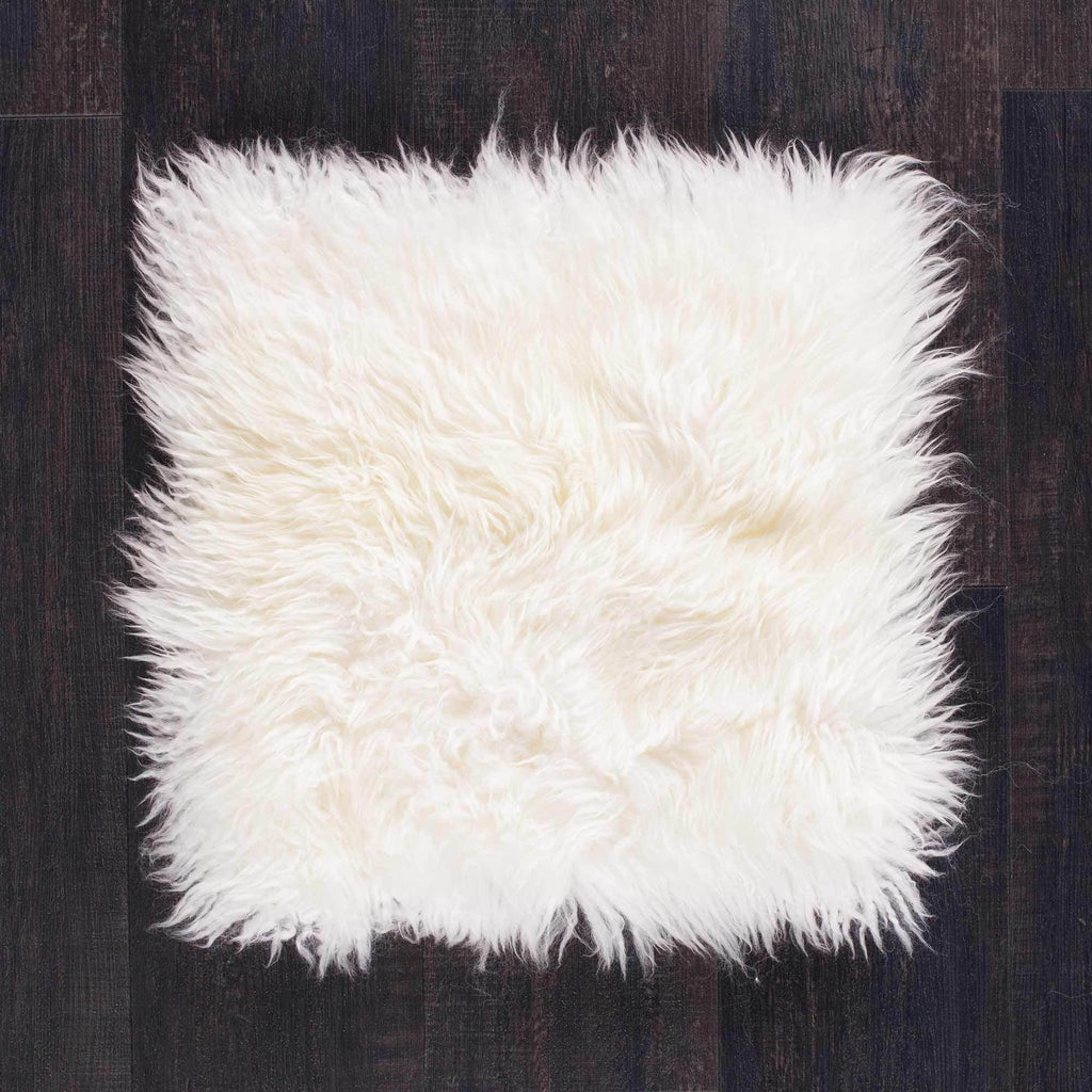 Ivory Yeti Sheepskin Seat Pads Square 40 cm -  - SHEEPSKIN  from The Wool Company