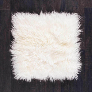 Buy Ivory Yeti Sheepskin Seat Pads Square 40 cm From The Wool Company Online