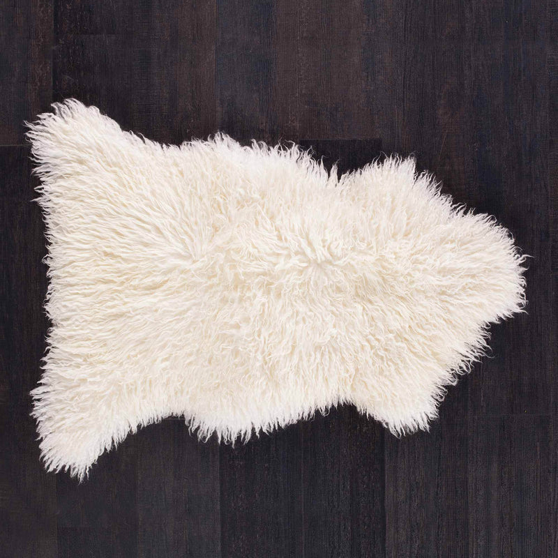 Ivory Yeti Sheepskin Throw SHEEPSKIN The Wool Company