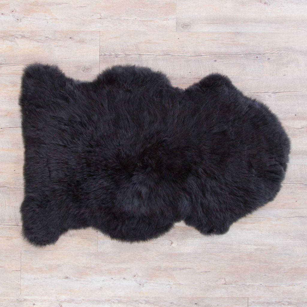 Jet Black Sheepskin -  - SHEEPSKIN  from The Wool Company