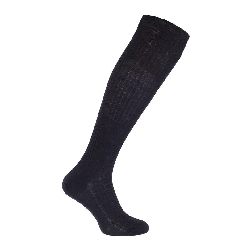 Knee-High Tailored 100% Merino Socks - Black / 6.5 -7.5 - CLOTHING  from The Wool Company