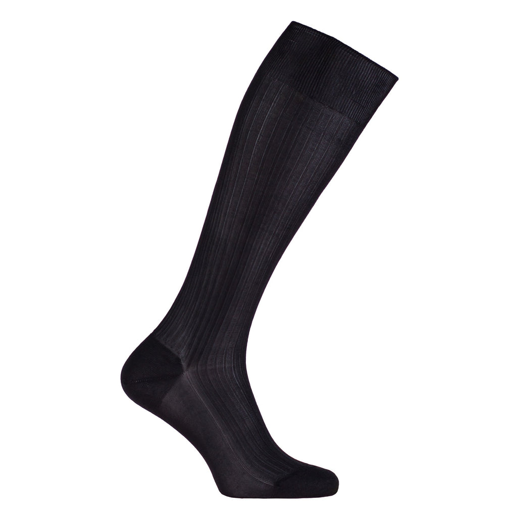 Knee-High Tailored 100% Silk Socks Black 5.5-6 CLOTHING The Wool Company