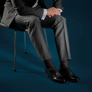 Buy Knee-High Tailored 100% Silk Socks Black From The Wool Company Online