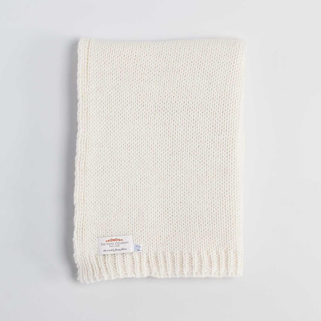 Knitted Alpaca Scarf Cream -  - CLOTHING  from The Wool Company
