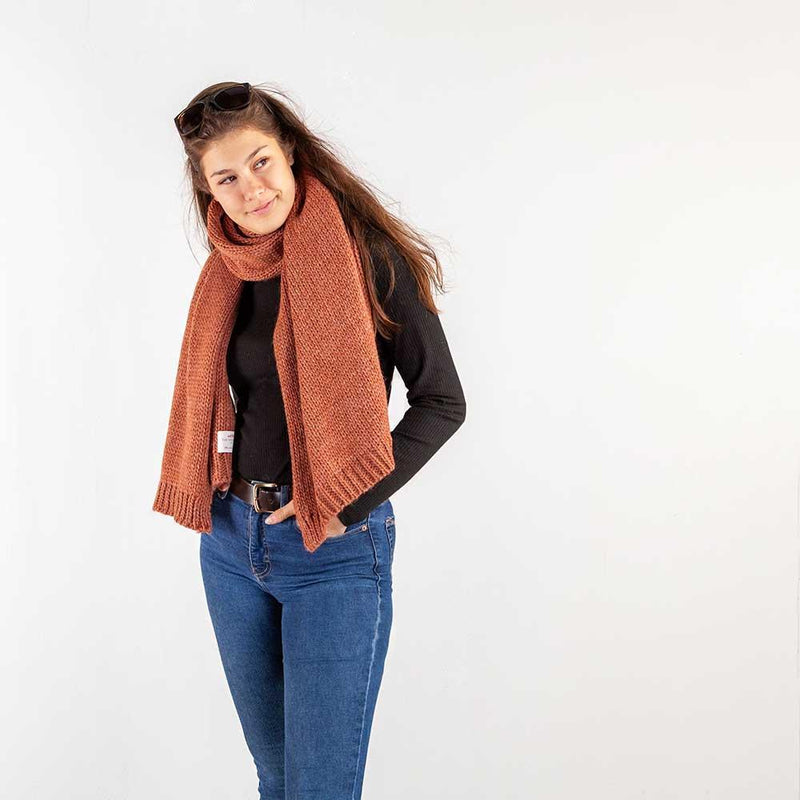 Knitted Alpaca Scarf Spice -  - CLOTHING  from The Wool Company