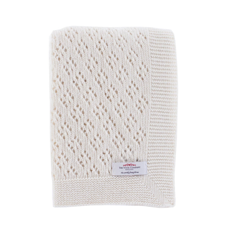 Buy Lacy Lambswool Baby Shawl From The Wool Company Online