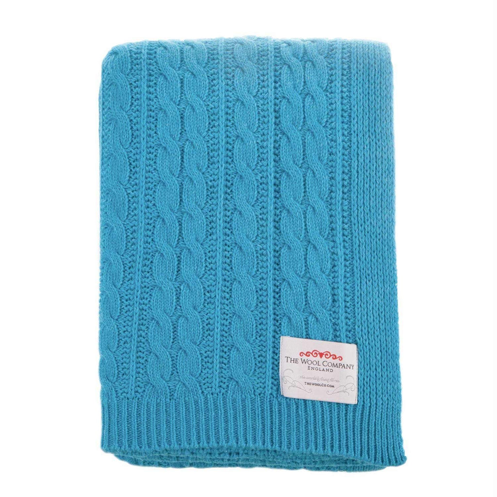 Lambswool Knitted Throw Summer -  - LIVING  from The Wool Company
