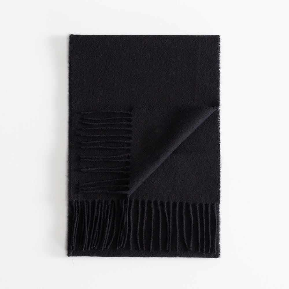Buy Lambswool Scarf Black From The Wool Company Online